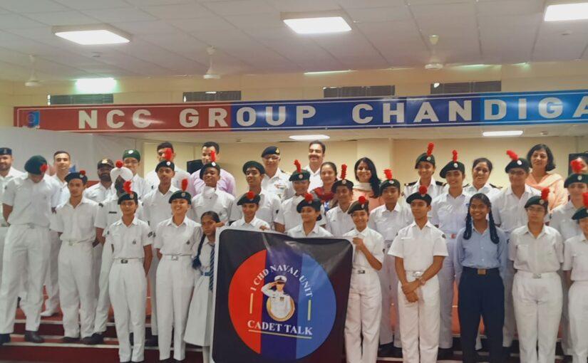 Cadet Talk at Chandigarh Naval Wing